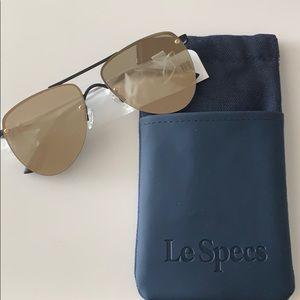 Le Specs 'The Prince' Matte Black Sunglasses
